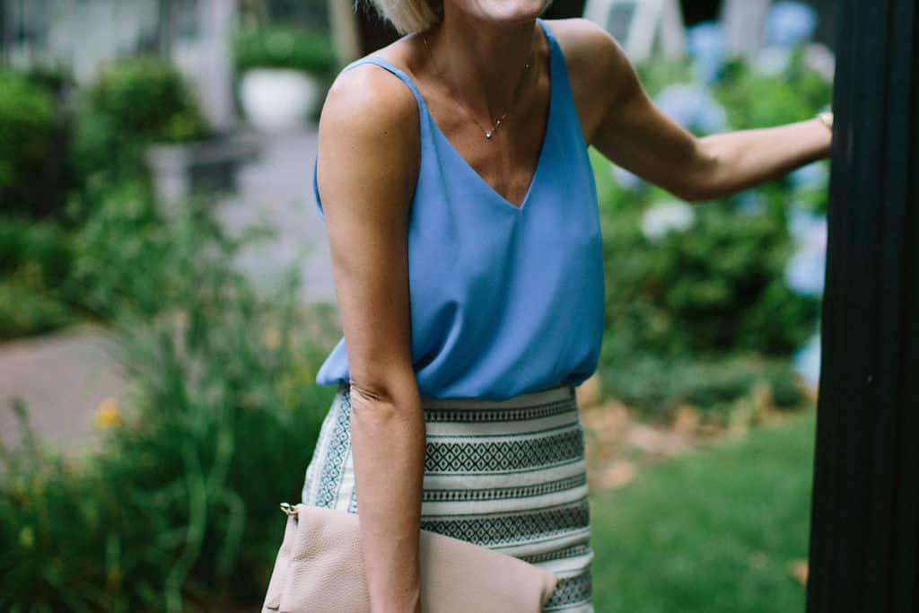 Blue, White & Stripes
