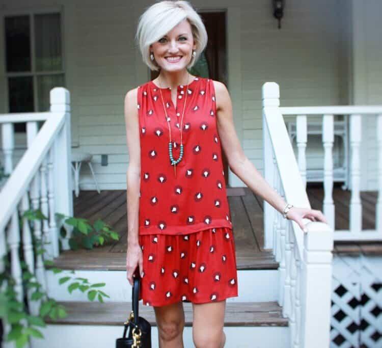 Red Dress, Blonde Hair