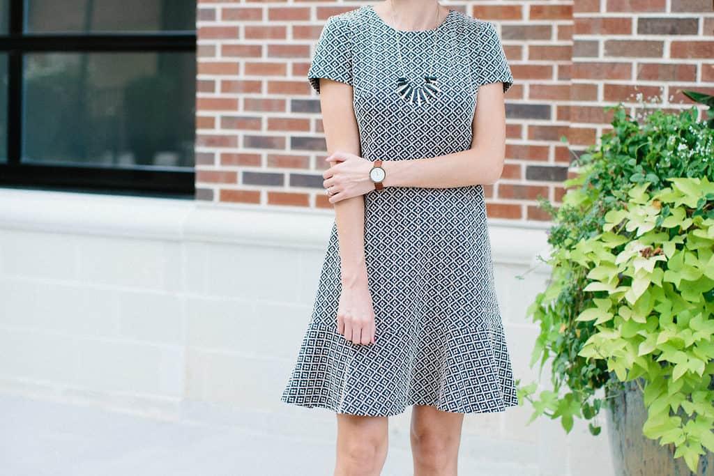 B+W Peplum Dress