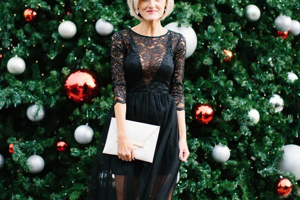 Flirty Black Lace Dress