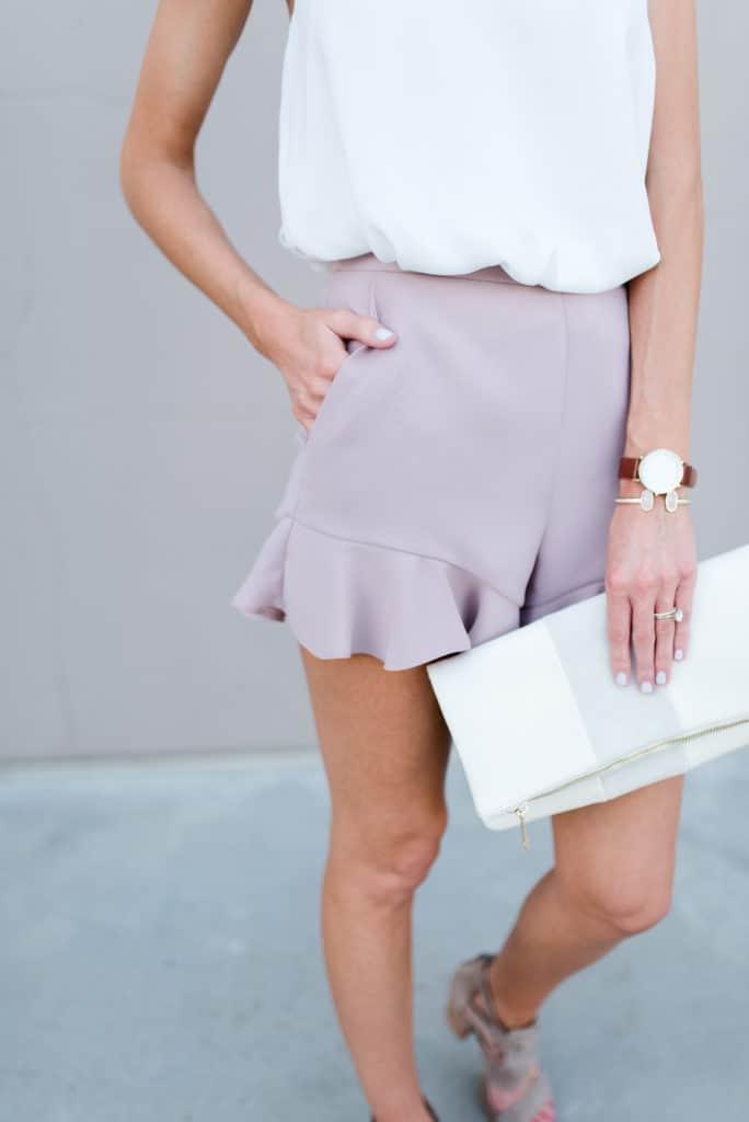 @loverlygrey www.loverlygrey.com pink ruffle shorts