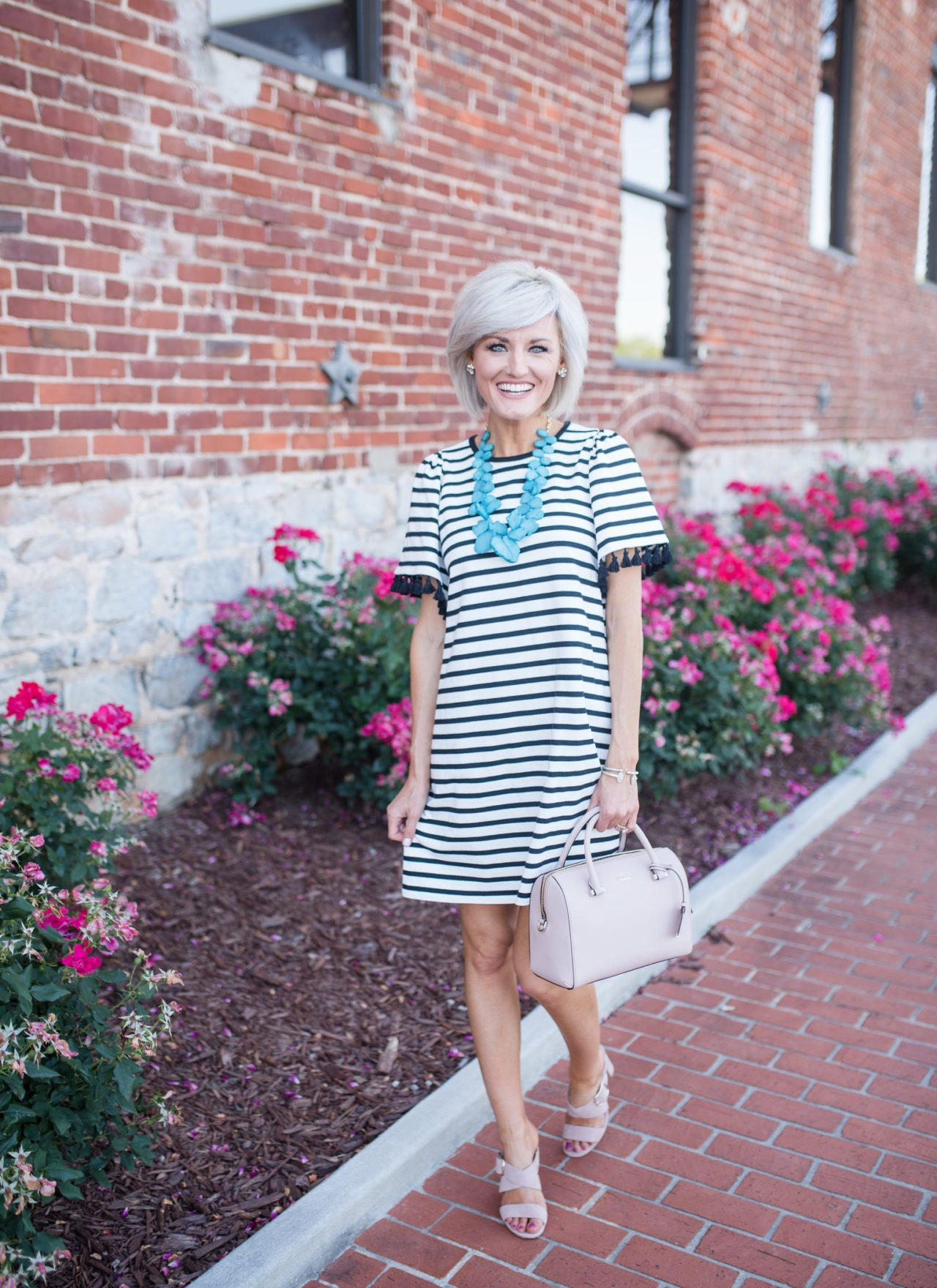Encourage Others + Striped Dress
