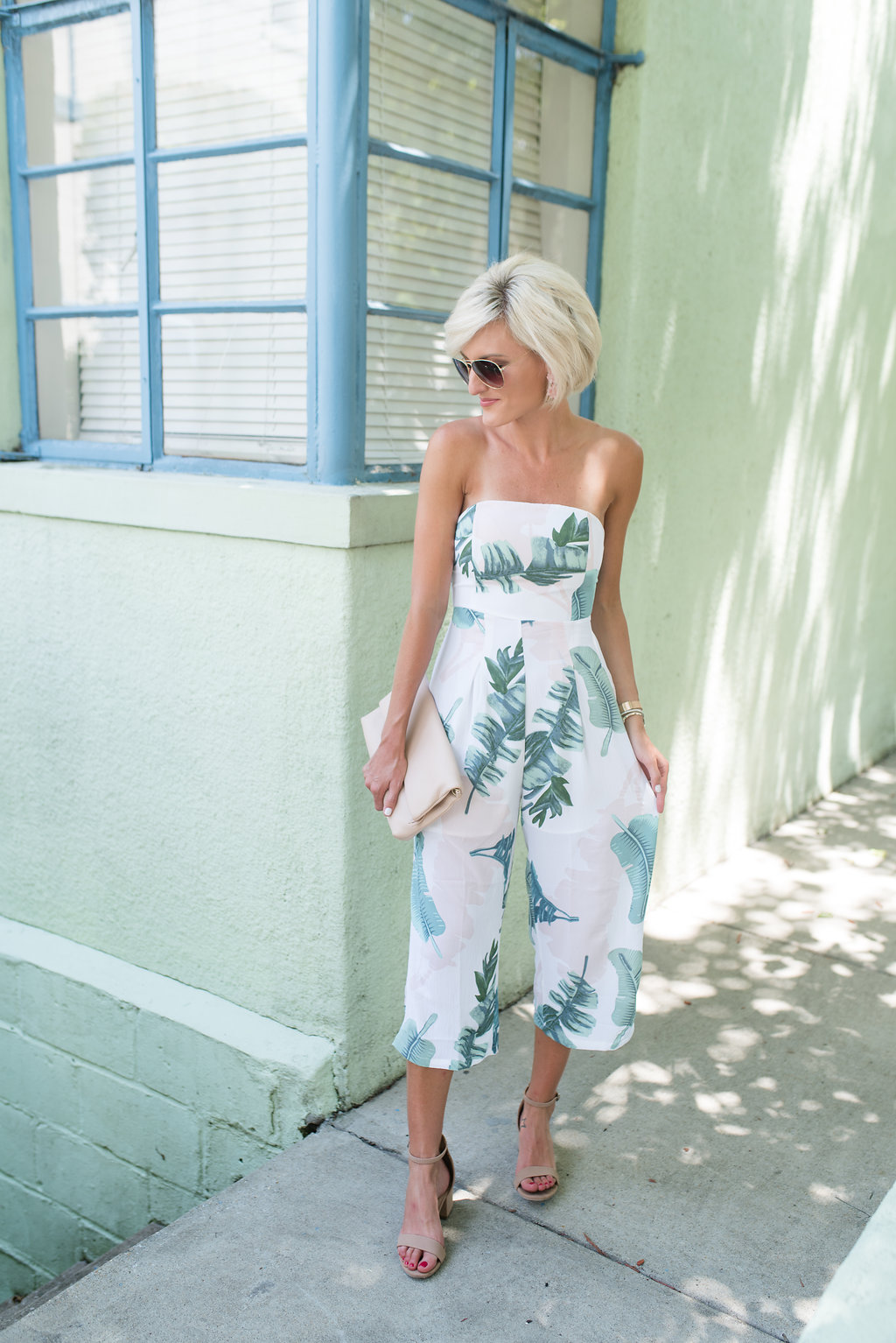 Palm Print Jumpsuit + Flash Sale