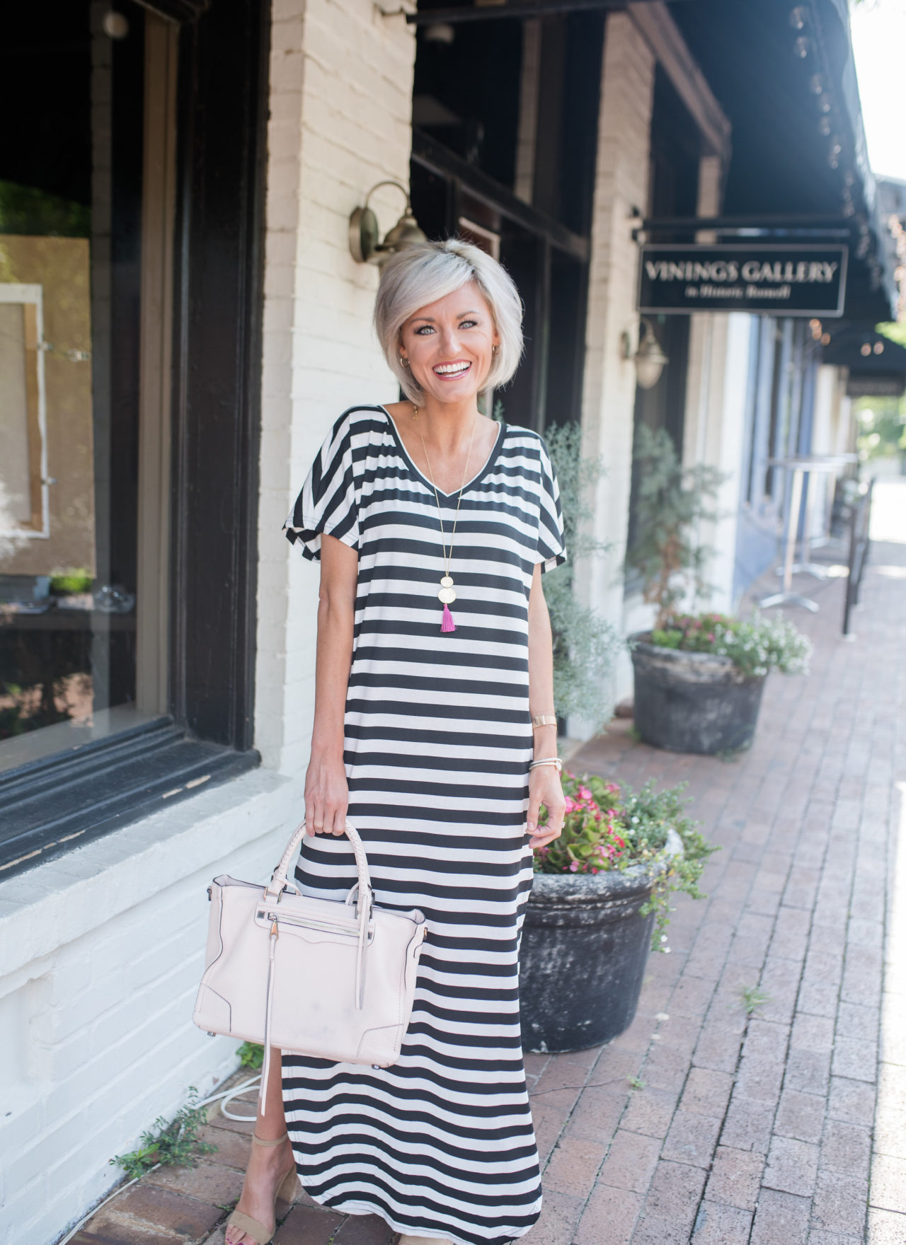 Striped Maxi Dress + Shein Review