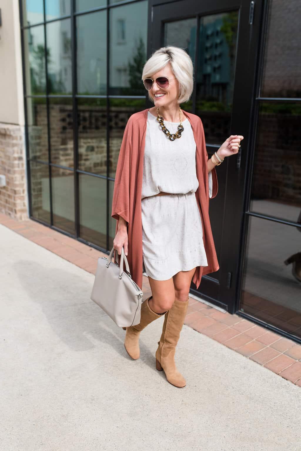 Fall Uniform – Dress + Sweater