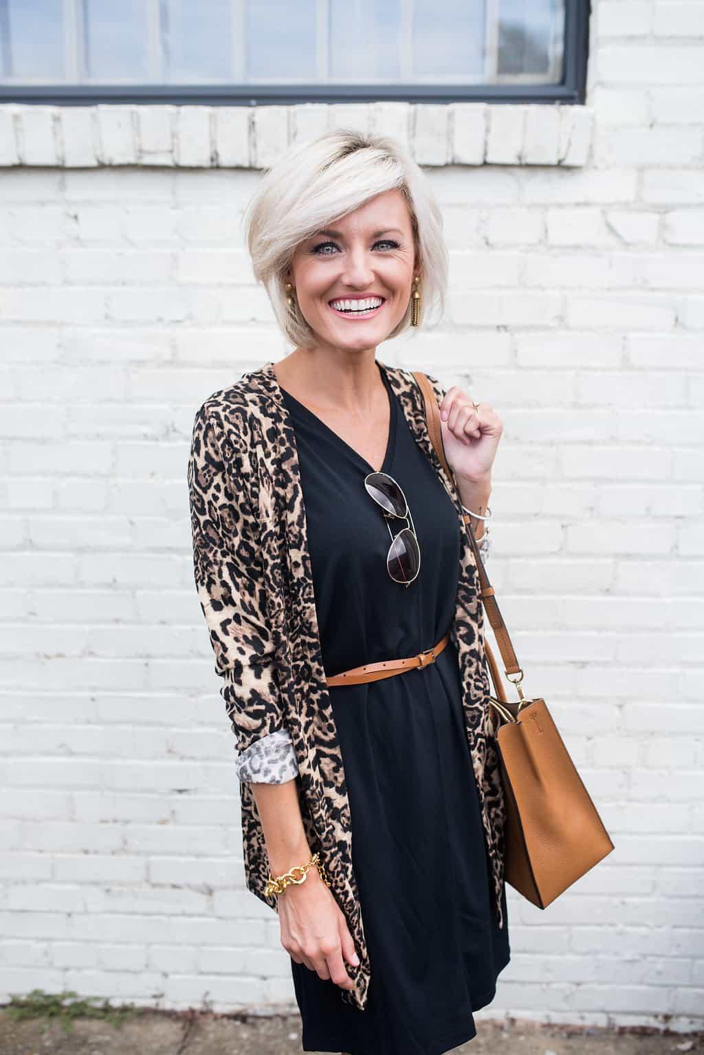 Leopard Print Cardigan Loverly Grey