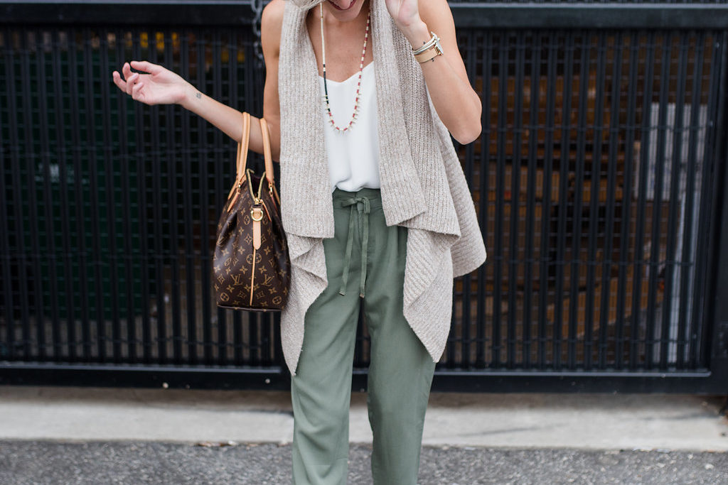 Olive Trousers + Cozy Vest