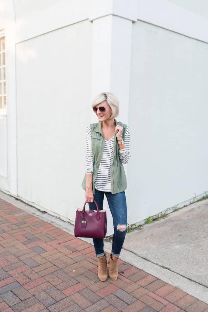 fall favorites - green vest
