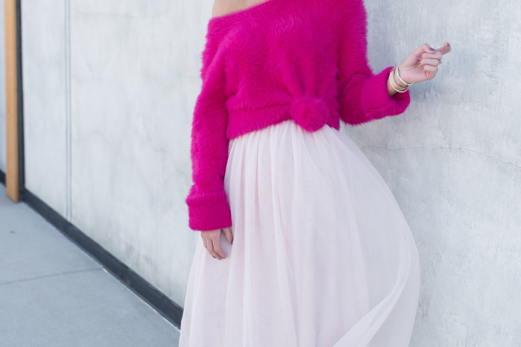 Be Bold – Pink Fuzzy Sweater