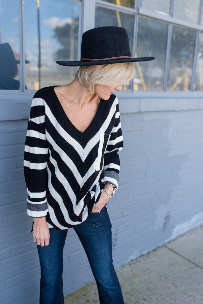 Chevron Sweater - www.loverlygrey.com