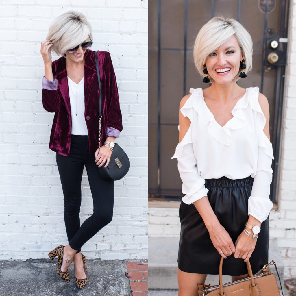 Hand in Pocket - Velvet Blazer - www.loverlygrey.com