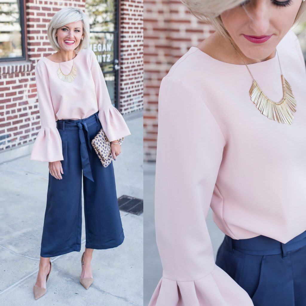 pink bell sleeves - www.loverlygrey.com