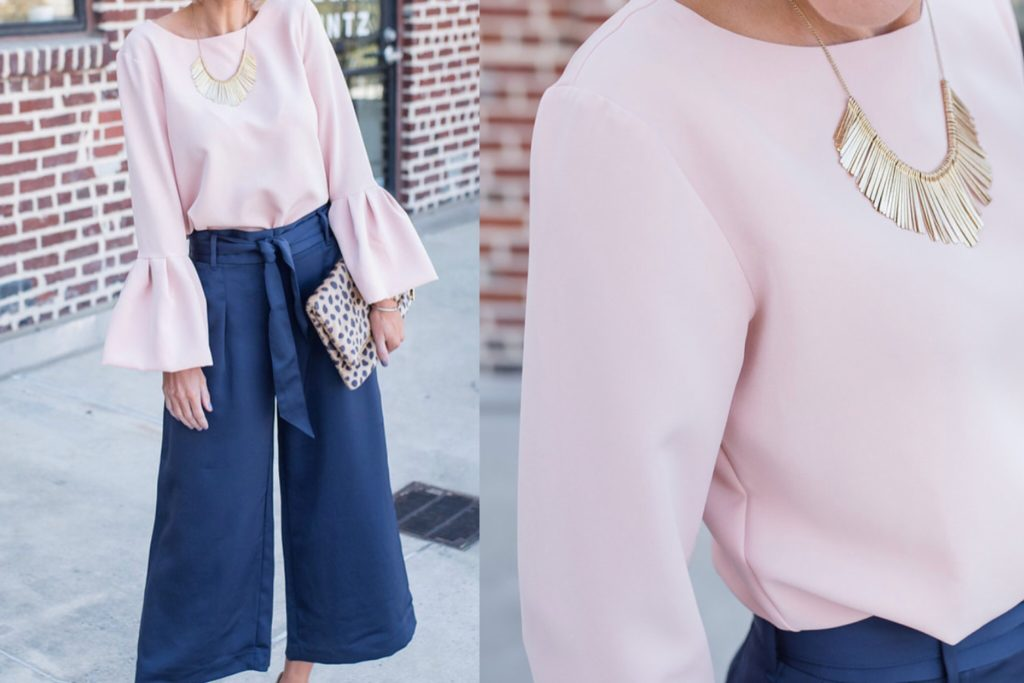 Bell Sleeve Blouse – Great for the Holidays!