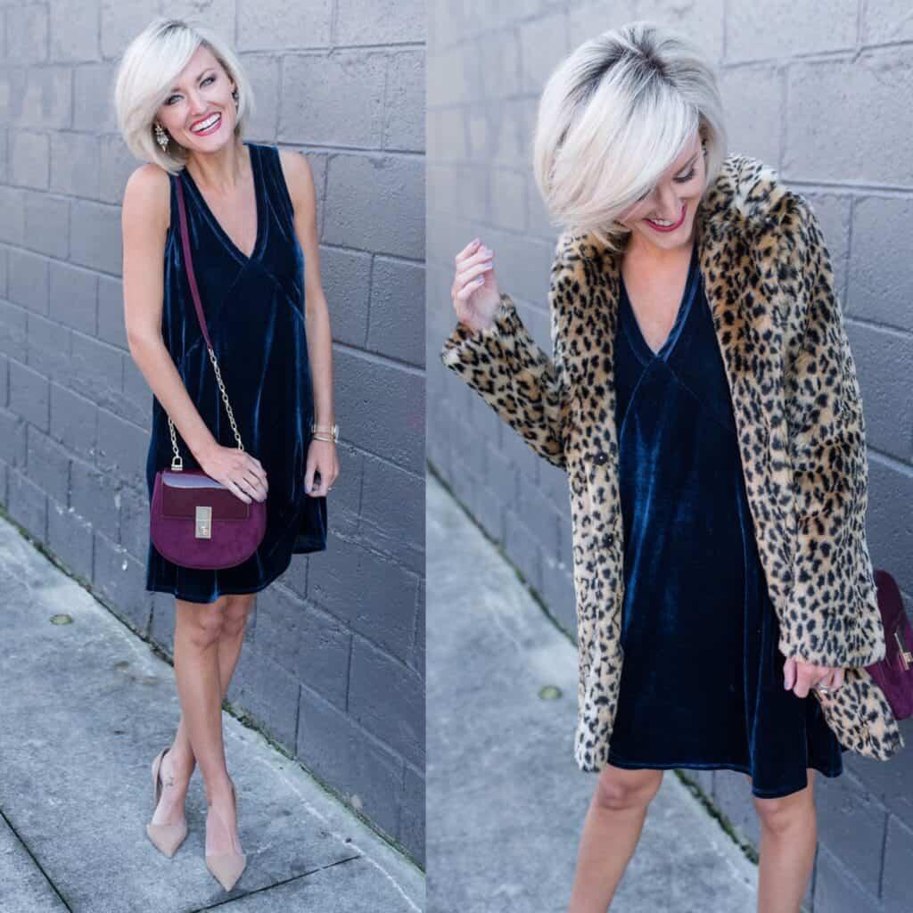 Lilla P Velvet Dress - www.loverlygrey.com