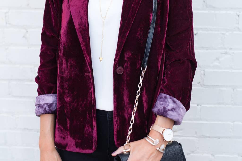 Velvet Blazer – Hand in Pocket Boutique