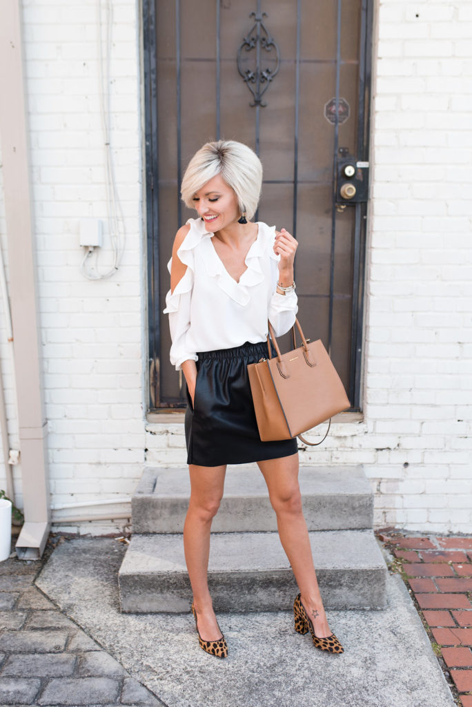 ruffle blouse - www.loverlygrey.com