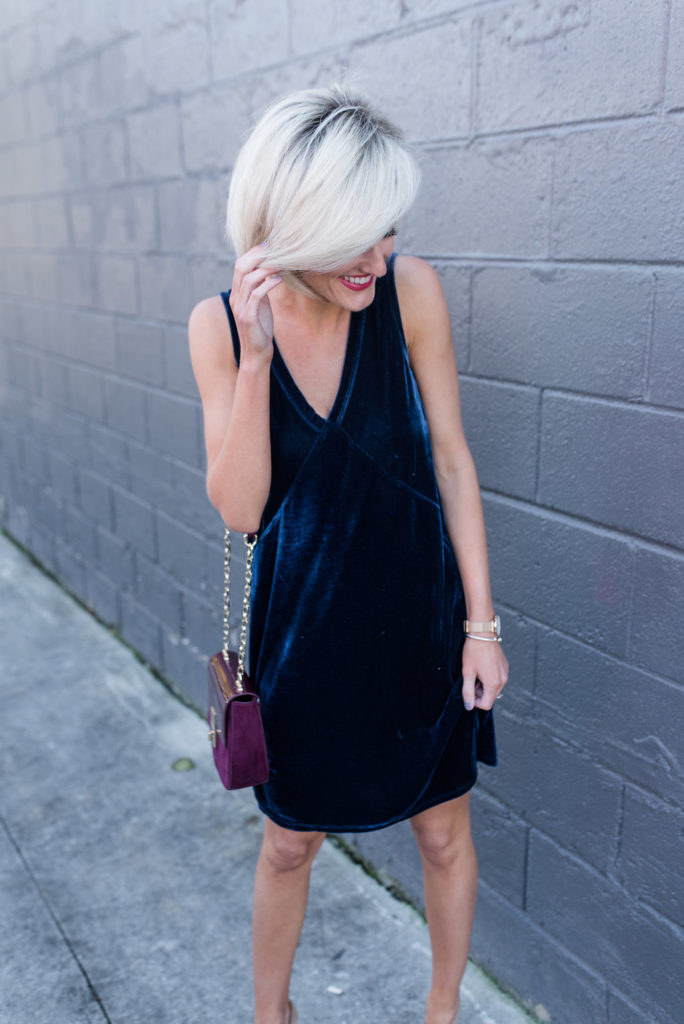 Lilla P Velvet Dress