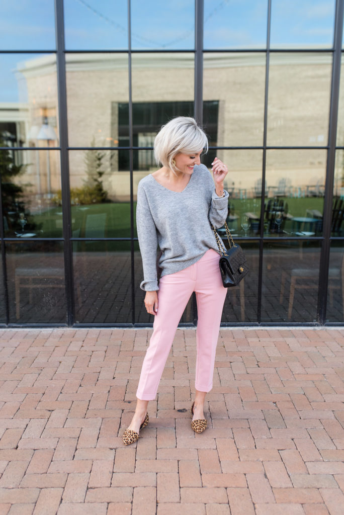 pink pants - www.loverlygrey.com