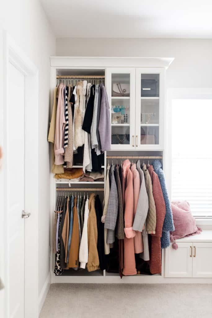 california closets custom walk in coat section