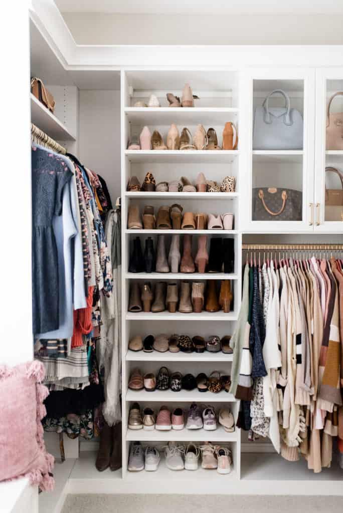 california closets floor to ceiling custon walk in shoe storage