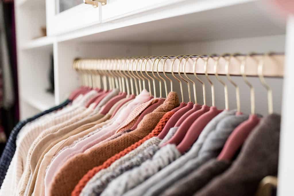 california closets custom walk in matching coat hangers