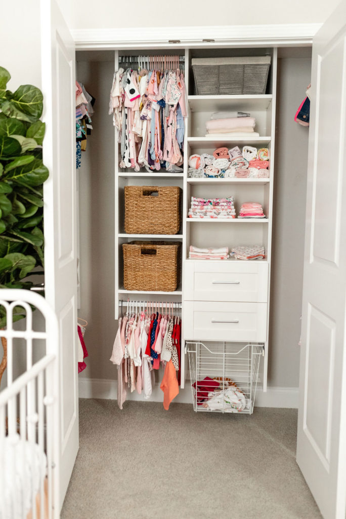 How I Designed And Organized Our Nursery Closet With California Closets Loverly Grey