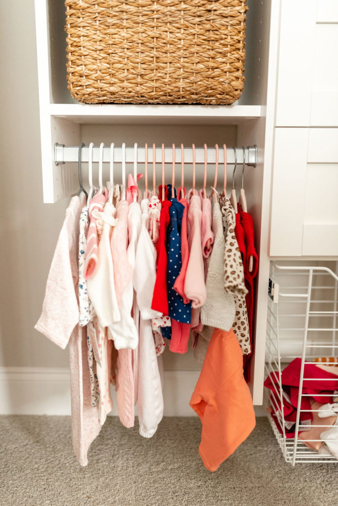 hanging rack in california closets baby nursery closet design