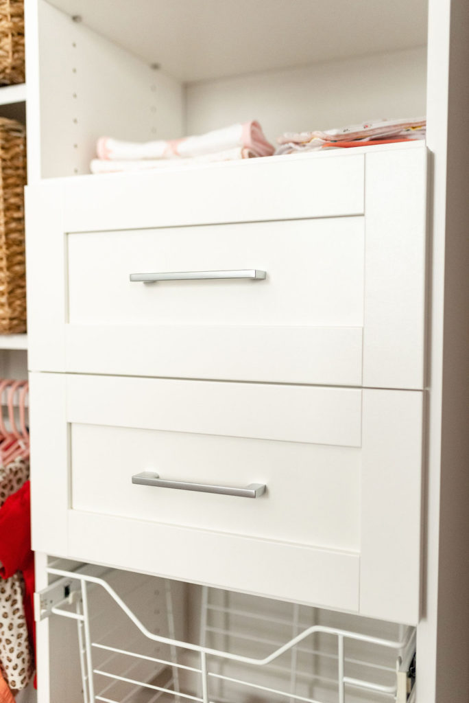 drawers in california closets baby nursery closet