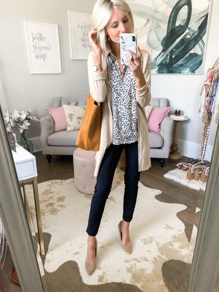 black pants office outfit workwear idea