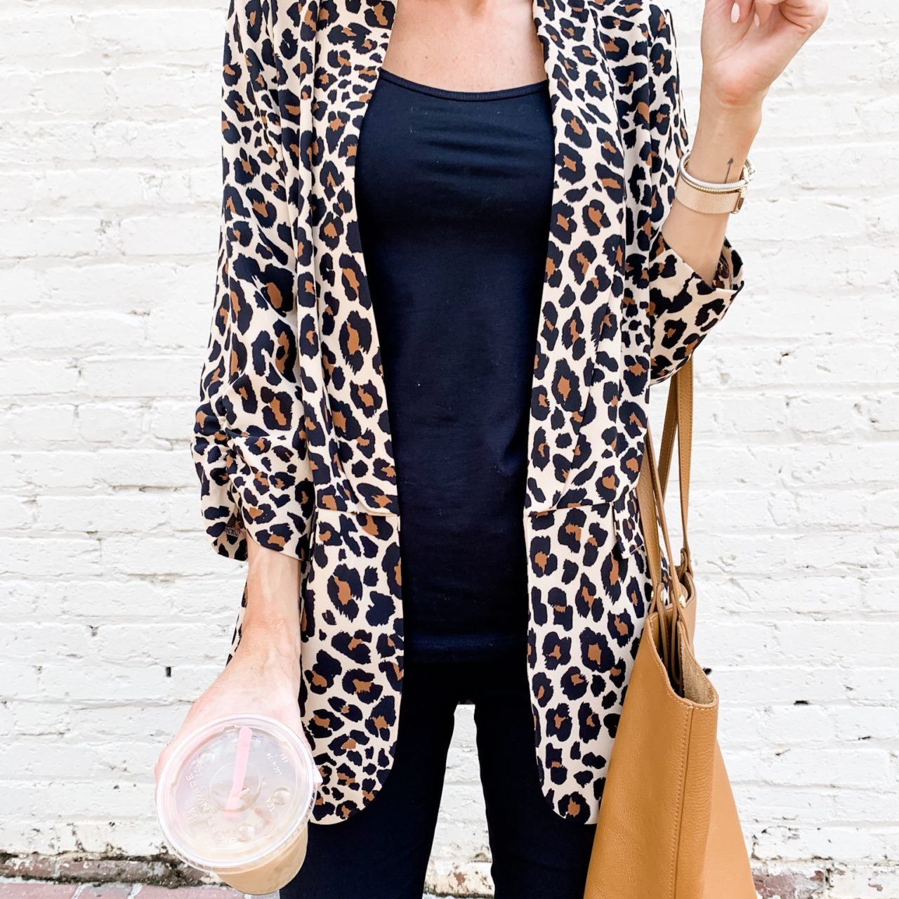 Leopard Print Blazer for Work