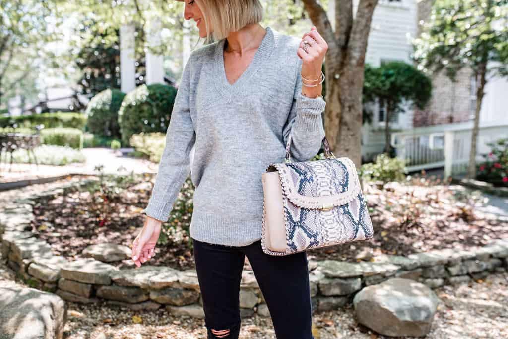 Snakeskin Handbags for Fall