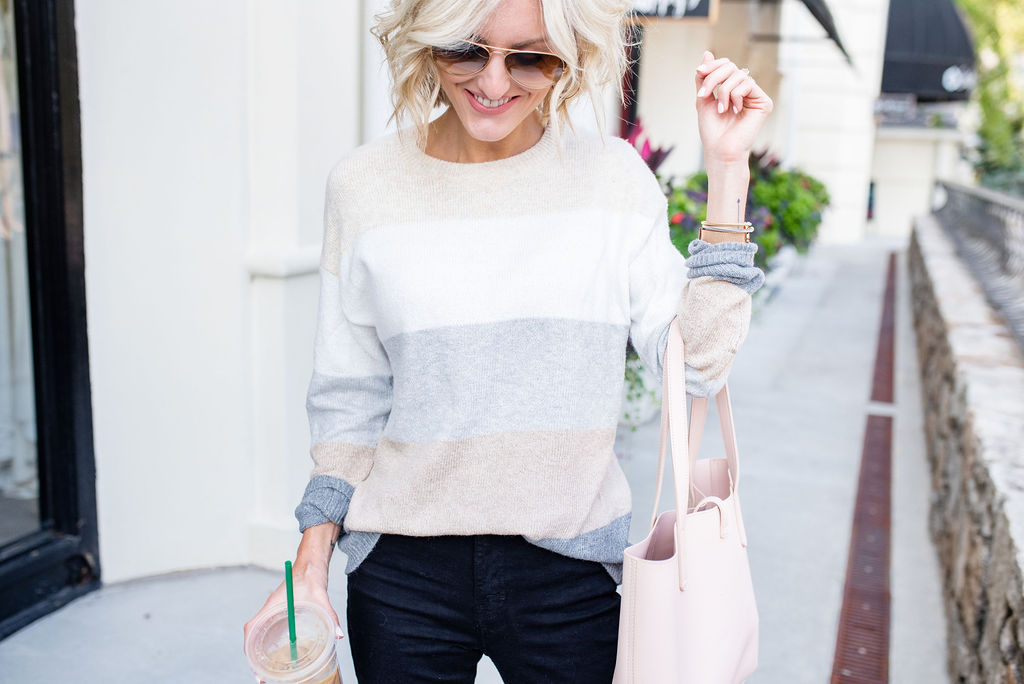 Color Block Sweaters for Fall
