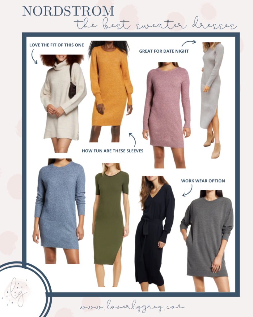 The Best Sweater Dress Roundup