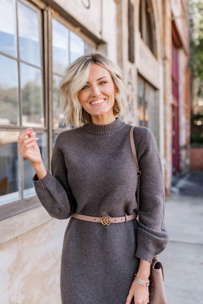 Styling a Midi Sweater Dress
