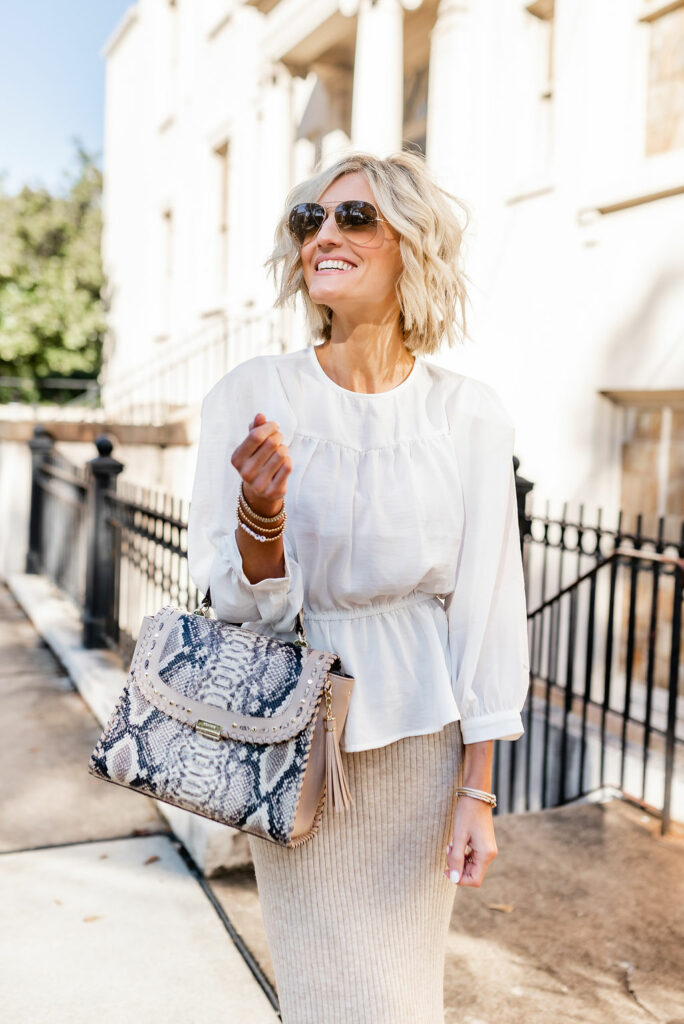 peplum top styled two ways