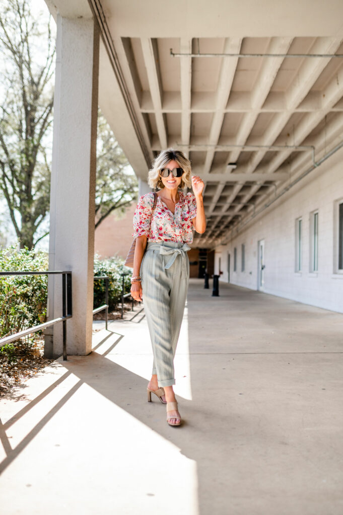 ditch your classic black pant  for spring