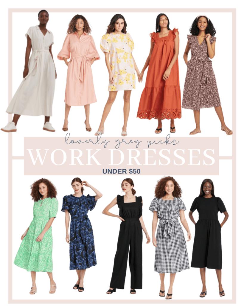 Summer Dresses Under $50 for work