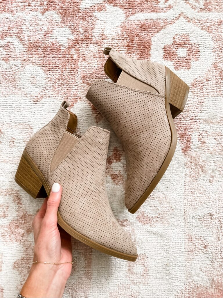 neutral booties for fall under $40