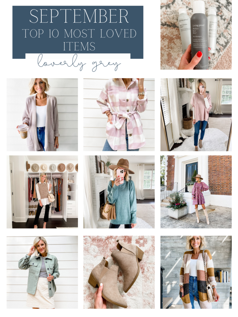 Most Loved Items from September